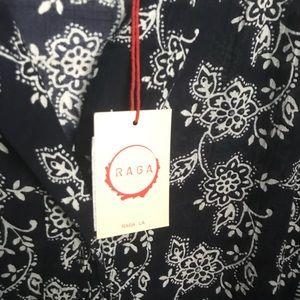 RAGA Dresses - RAGA Moonriver 3/4 Sleeve Shirt Dress - sz. L NEW